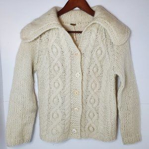 Free people cardigan sweater cream mohair medium